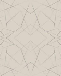 Geo Diamond Wallpaper Taupe by