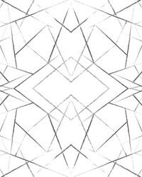 Geo Diamond Wallpaper Black by