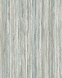 Painted Stripe Wallpaper Blue by