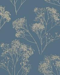 Boho Bouquet Wallpaper Navy by