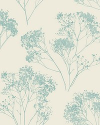 Boho Bouquet Wallpaper Turquoise by