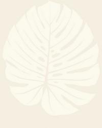 Bali Leaf Wallpaper Cream by