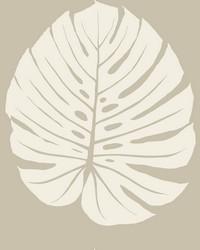 Bali Leaf Wallpaper Tan by