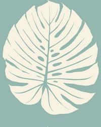 Bali Leaf Wallpaper Blue by