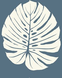 Bali Leaf Wallpaper Navy by