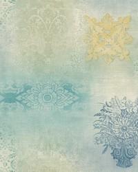 Prisha Patchwork Wallpaper  Blues by