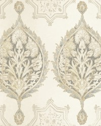 Henna Palm Ogee Wallpaper  Beiges by