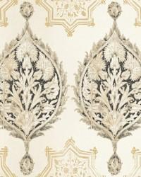 Henna Palm Ogee Wallpaper  Blacks by