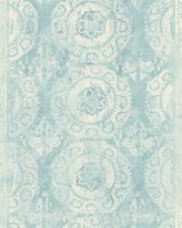 Mandala Stripe Transition Wallpaper  Blues by