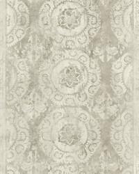 Mandala Stripe Transition Wallpaper  Blacks by