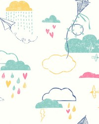 Kites In The Clouds Wallpaper Blues by
