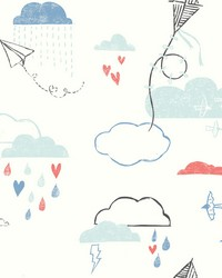 Kites In The Clouds Wallpaper Blacks by