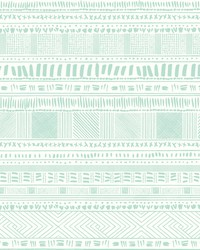 Tribal Print Wallpaper Greens by