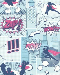 Comix Heros Wallpaper Blues by