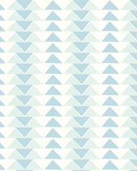 Geo Triangles Wallpaper Blues by
