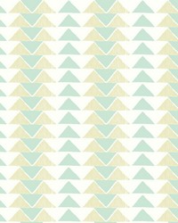Geo Triangles Wallpaper Greens by