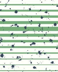Splatter Stripe Wallpaper Greens by