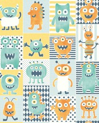 Monster Party Wallpaper Oranges by