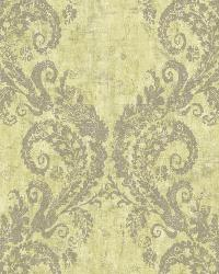 Batik Ogee 15 Lime Gray Wallpaper WT4516 by