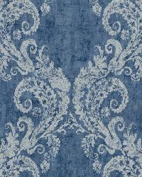 Batik Ogee 20 Blue White Wallpaper WT4520 by