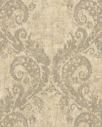 Batik Ogee 1 Khaki Gray Wallpaper WT4522 by