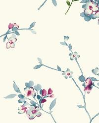 Soft Blossoms 11 Indigo Wallpaper WT4533 by