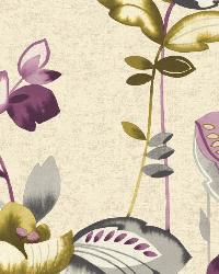 Whimsical Garden 3 Plum Wallpaper WT4540 by