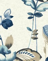 Whimsical Garden 20 Navy Wallpaper WT4541 by