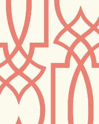 Large Lattice 20 Coral Wallpaper WT4602 by