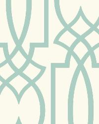 Large Lattice 7 Aqua Wallpaper WT4603 by