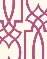 Large Lattice 1 Fuschia Wallpaper WT4609 by