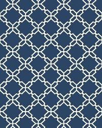 Geometric Trellis 7 Navy White Wallpaper WT4612 by
