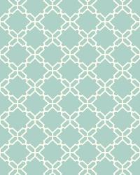 Geometric Trellis 3 Aqua White Wallpaper WT4613 by
