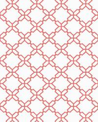 Geometric Trellis 5 White Coral Wallpaper WT4614 by