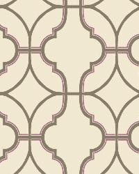 Lattice 1 Brown Fuschia Wallpaper WT4618 by