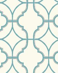 Lattice 2 Aqua Silver Wallpaper WT4619 by