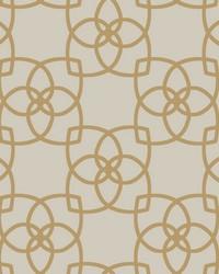 Serendipity Wallpaper cream  metallic gold by