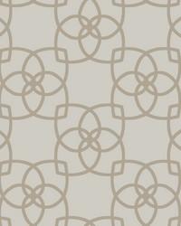 Serendipity Wallpaper light grey  light brown by
