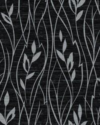 Leaf Silhouette Wallpaper black  metallic silver by