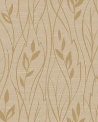 Leaf Silhouette Wallpaper beige  metallic gold by