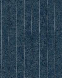 Elemental Stripe Wallpaper dark blue  metallic silver by