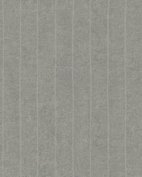 Elemental Stripe Wallpaper medium grey  metallic silver by
