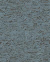 Cork Wallpaper greyish blue  metallic silver  metallic copper by