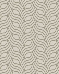 Interlocking Geo Wallpaper cream  metallic soft gold by