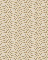 Interlocking Geo Wallpaper beige  metallic gold by
