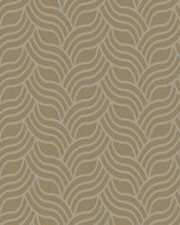Interlocking Geo Wallpaper tan  metallic silver by