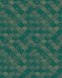 Mermaid Scales Wallpaper Teal Gold by