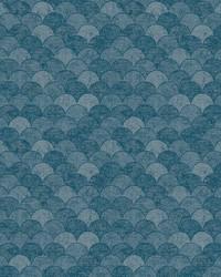 Mermaid Scales Wallpaper Blue by