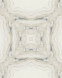 Stone Kaleidoscope Wallpaper Grey Black by