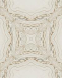 Stone Kaleidoscope Wallpaper Cream Charcoal by